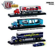 "AUTO HAULERS RELEASE 19 ""A"" 3 TRUCKS SET 1/64 M2 MACHINES 36000-19 ""A"""