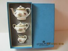 Vintage COALPORT Miniature Tea Set- Ming Rose Fine Bone China-England