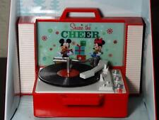 DISNEY MICKEY & MINNIE Musical Record Player Christmas Animated Ornament