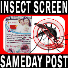 Fly Screens UNIQUE TAPE NEW 2017 Window Net Insect Bug MOSQUITO Black or White