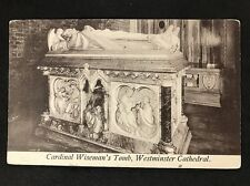 RP Vintage Postcard - London #W10- Cardinal Wiseman's Tomb Westminster Cathedral