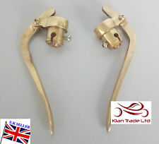 Royal Enfield BSA Triumph INVERTED BRASS VINTAGE BRAKE CLUTCH LEVERS 22MM ,7/8""
