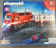 Playmobil 4010 RC Train With Cargo Car & Train Tracks Complete Set
