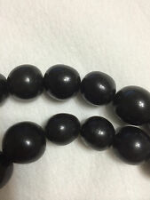 Black Tagua Nut Beads 18mm 20mm  9pc