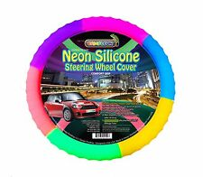 Neon Rainbow Silicone Steering wheel cover glow in the dark! Limited edition!