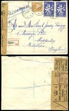 BELGIUM 1958 REGISTERED + RESEALED BY P.O...EXHIBITION FRANKING to SHEPPERTON