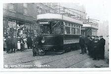 Yorks Rotherham PARKGATE Tram #2 with crew Photograph Packer c1950/60s? print