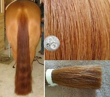 "Genuine Australian Horse Tail 80CM 32"" Chestnut False Horse Tail EXTENDED BluCut"