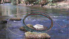 Trout: Forward tapered 2.5 metre Nymph furled leader light  orange tip and butt
