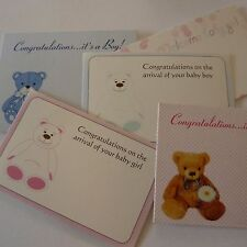 Florist Cards Gift Message Baby Birth Congratulations 50 cards baby theme 6x9cm