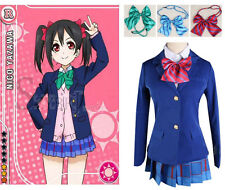 Love Live new School Uniforms Anime Cosplay Costumes Girls Cute Peppy Style Ladi