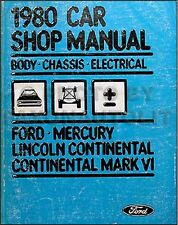 1980 Lincoln Town Car Mark VI Electrical Body Manual
