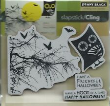 """Hoot Of A Time"" Slapstick/Cling Stamp Set by Penny Black"