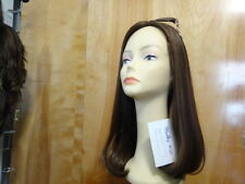 Malky Sheitel 100% Kosher Remy Human Hair Wig Medium Brown Highlight Scalp Look