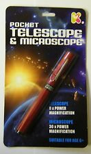 Space Pocket Telescope Microscope NEW