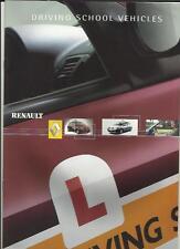 RENAULT CLIO E MEGANE Scuola Guida Veicoli SALES BROCHURE 2002 2003