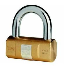Viro Brass Padlock 70mm - Ideal for Main doors, Shutter, Bikes (Made in Italy)