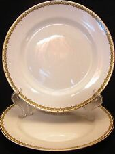 "Two 9"" Plates Cleveland China GHB Co CLE-4 Pattern Warranted 18 K Gold Trim"