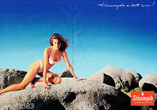 PUBLICITE ADVERTISING 115  1988  les sous vetements TRIUMPH INTERNATIONAL (2p