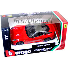 BBURAGO 18-36100 B FERRARI 599 GTO 1/43 DIECAST MODEL CAR RED