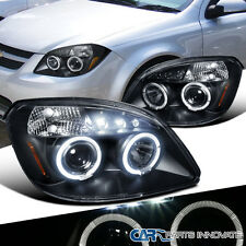Chevy Cobalt Pontiac G5 Pursuit LED Halo Projector Headlights Lamp Black