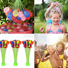 Kids Garden Party Toy 3 Bunches 111pcs Magic Already Tied Water Balloons Bombs