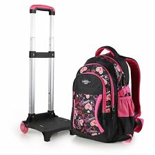 Child Wheeled Backpack Removable Trolley Schoolbag School Hand Luggage Bags AU