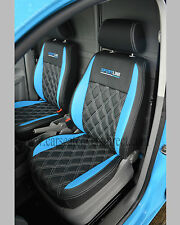 VOLKSWAGEN VW CADDY BLUE & BLACK SEAT COVERS