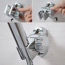 Adjustable Rotating Chrome ABS Bathroom Shower Head Holder Wall Mounted Bracket