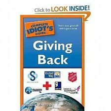 THE COMPLETE IDIOT'S GUIDE TO GIVING BACK BY ELIZABETH ZIEMBA 2009 PAPERBACK