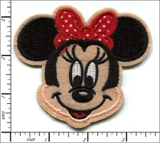 10 Pcs Embroidered Iron/Sew on patches Minnie Mouse Red Bow 9x8cm AP032bC