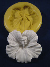 Hibiscus flower Silicone Molds Gumpaste Fondant Chocolate polymer clay #303A