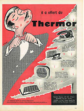 PUBLICITE ADVERTISING    1961   THERMOR  éléctroménager