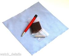 Satin / Brushed Refinish Pad  & Pen for Swiss Military Brushed Steel Finishes