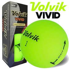 """""""NEW 2017"""" VOLVIK VIVID MATTE FINISH 3 PIECE GOLF BALLS / GREEN / 3 BALL PACK"""