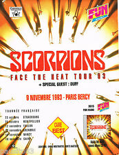 PUBLICITE ADVERTISING 075  1993   FUN radio   SCORPIONS en concert   HEAT TOUR