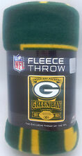 "Green Bay Packers Blanket 50"" by 60""  Marque Style Fleece Throw Blanket"