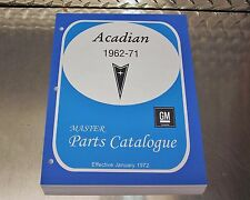 "ACADIAN MASTER PARTS CATALOG 62-71 ""Jan 1972 printing"""