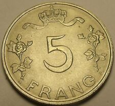 Luxembourg 1949 5 Francs~Frang~Charlotte Grand Duchess Of Luxembourg~Free Ship