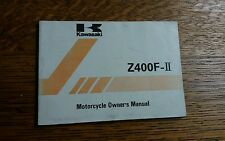 KAWASAKI  Z400F II OWNERS MANUAL/HANDBOOK/BOOKLET