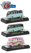1:64 M2 Machines *AUTO-THENTICS MJS02* Black & Blue 1959 VW Microbus *NIB*