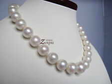 80%OFF 12-14-15mm 18Inch AAA Akoya Natural White Pearl Strand Necklace Handmade