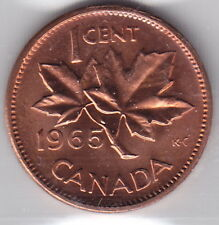 1965 Canada ICCS Graded Small Cent Penny Coin – M S 63