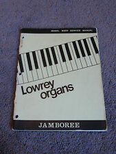 Lowrey Organ M300 Jamboree Service Manual Schematics Parts List OEM Factory