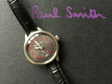 "PAUL SMITH LADIES ""CITY"" QUARTZ WATCH WITH LEATHER STRAP"