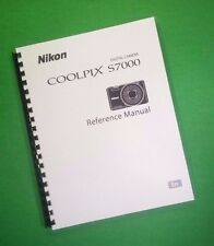 COLOR PRINTED Nikon Camera S8000 Manual, User Guide 184 Pages FREE SHIPPING