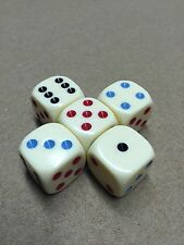 5 Michigan Red Eye 19mm Premium Dice  Round Corner Dice