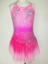 CUSTOM MADE FIGURE ICE SKATING BATON TWIRLING DRESS COSTUME