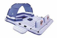 6-Person Floating Island Lounger Raft Pool Toy Bestway CoolerZ Tropical Breeze