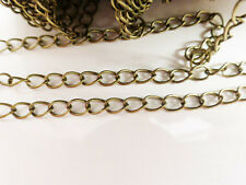 2 Metres x Iron Twist Chain 6mm x 3mm Antique Bronze NF & LF Chains Findings